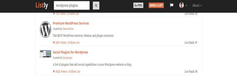 WordPress Alternative List.ly shortcode plugin Plugin Banner Image