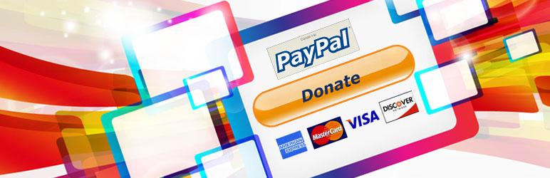 WordPress AM PayPal donations button Plugin Banner Image