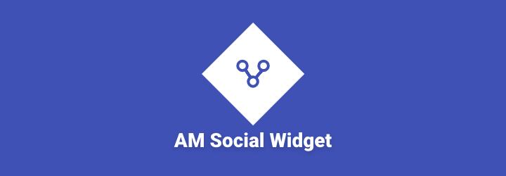 WordPress AM Social Widget Plugin Banner Image