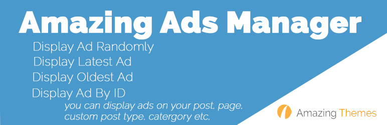 WordPress Amazing Ads Manager Plugin Banner Image