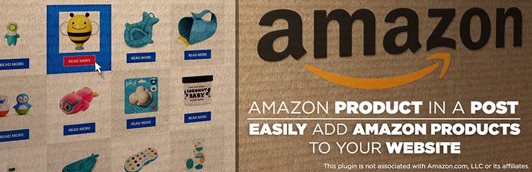 WordPress Amazon Product in a Post Plugin Plugin Banner Image