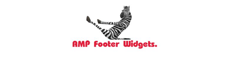 WordPress AMP Footer Widgets Plugin Banner Image