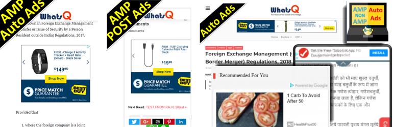 WordPress AMP & Non-AMP Auto Ads Plugin Banner Image