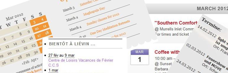 WordPress amr ical events lists Plugin Banner Image