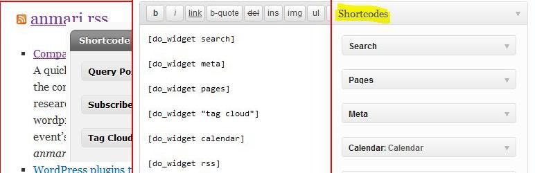 WordPress amr shortcode any widget Plugin Banner Image
