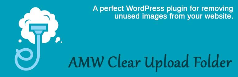 WordPress AMW Clear Upload Folder Plugin Banner Image