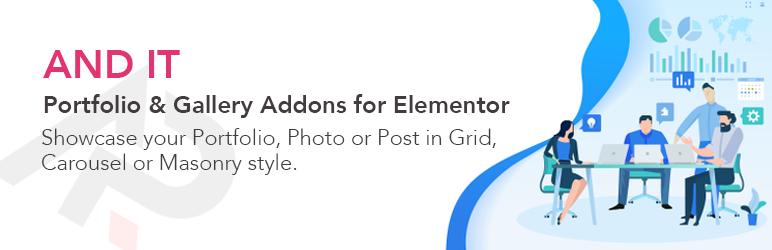 WordPress And IT Portfolio for Elementor Plugin Banner Image