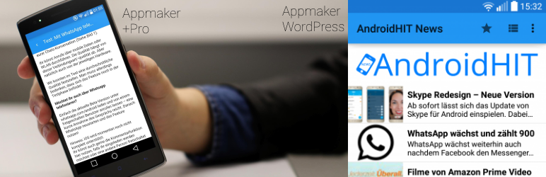 WordPress Android Appmaker Plugin Banner Image