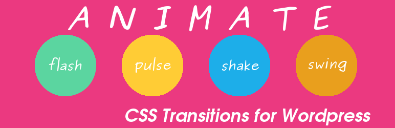 WordPress Animate Plugin Banner Image