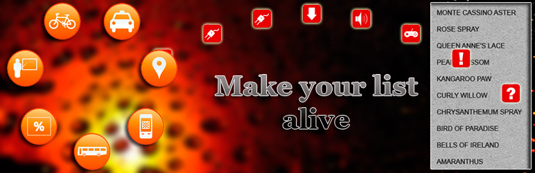 WordPress Animated AL List Plugin Banner Image