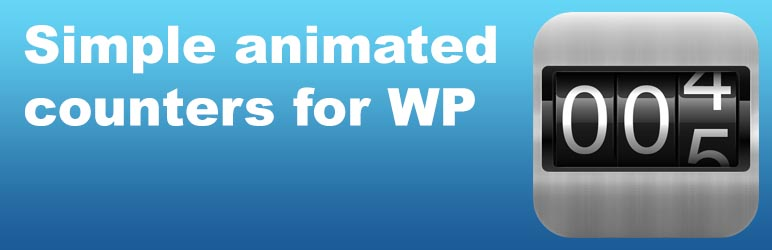 WordPress Animated Counters Plugin Banner Image