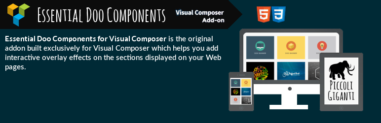 WordPress Essential Doo Components for Visual Composer Plugin Banner Image