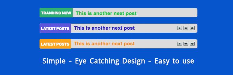 WordPress Any News Ticker Plugin Banner Image