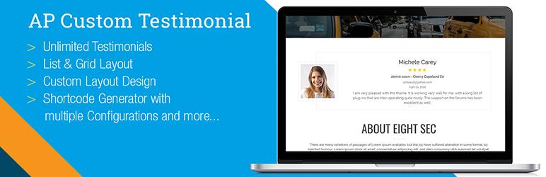 WordPress Testimonial WordPress Plugin – AP Custom Testimonial Plugin Banner Image