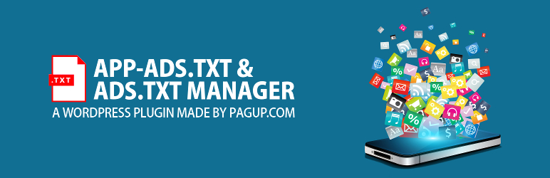 WordPress App-ads.txt & Ads.txt Manager for WordPress (Google Adsense, Admob, Ad Manager) & advertising Plugin Banner Image