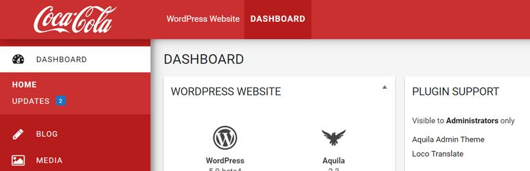 WordPress Aquila Admin Theme Plugin Banner Image