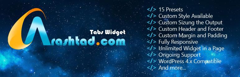 WordPress Arashtad Tabs Plugin Plugin Banner Image