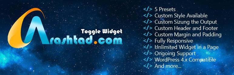 WordPress Arashtad Toggle Plugin Plugin Banner Image