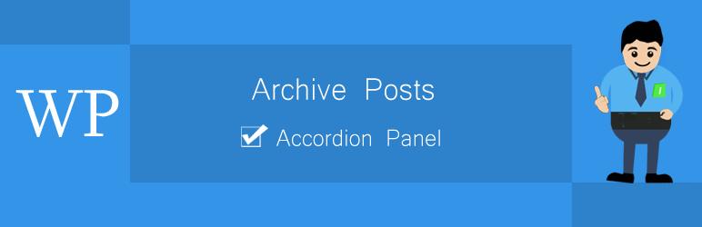 WordPress Archive Posts Accordion Panel Plugin Banner Image