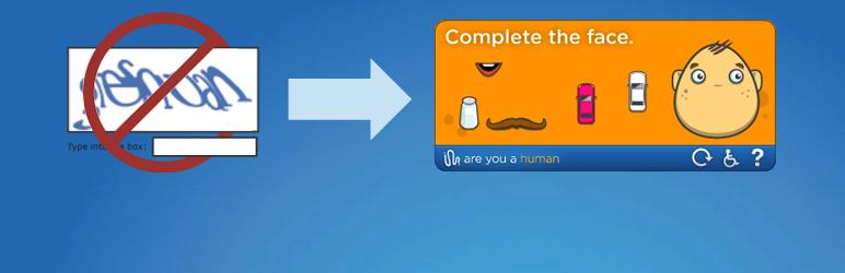WordPress Are You a Human – The Fun Spam Blocker Plugin Banner Image