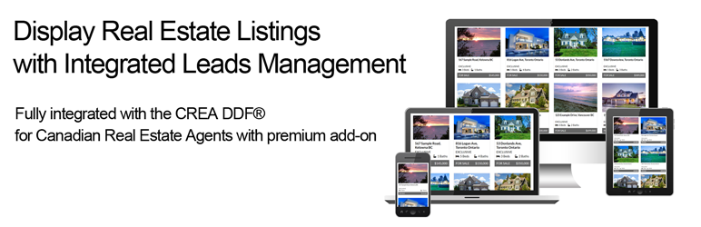 WordPress Display Real Estate Listings with Integrated Leads Management Plugin Banner Image