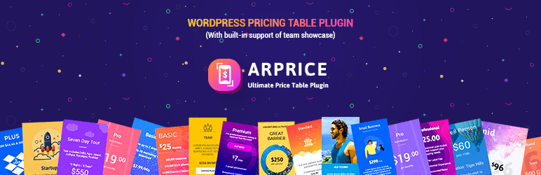 WordPress Pricing Table Plugin Plugin Banner Image