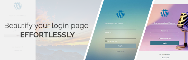 WordPress Custom Login Page Customizer | admin login, client login and forgot password forms/pages Plugin Banner Image