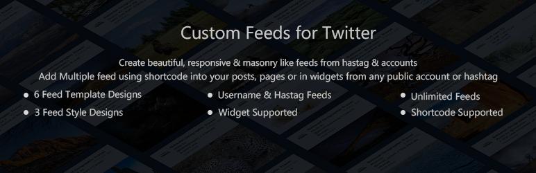 WordPress Arrow Custom Feed for Twitter Plugin Banner Image