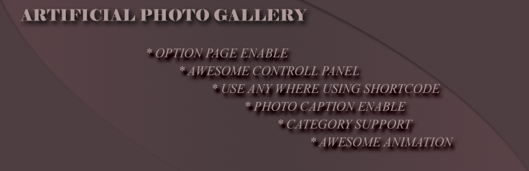 WordPress Artificial Photo Gallery Plugin Banner Image