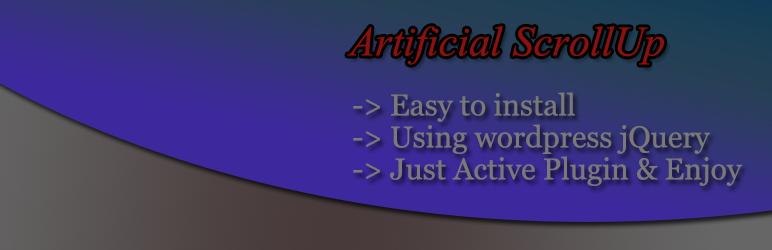 WordPress Artificial ScrollUp Plugin Banner Image
