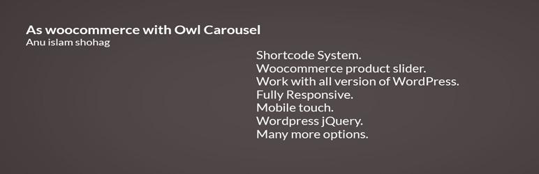 WordPress As woocomerce with owl carousel Plugin Banner Image