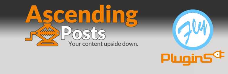 WordPress Ascending Posts by FlyPlugins Plugin Banner Image
