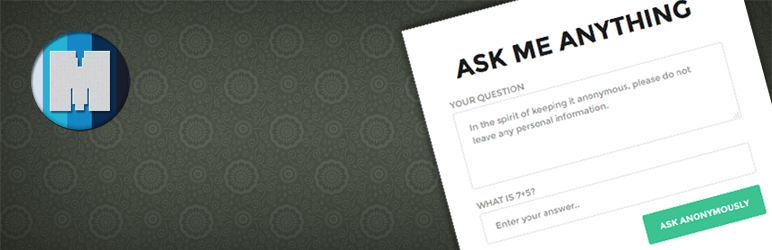 WordPress Ask Me Anything (Anonymously) Plugin Banner Image