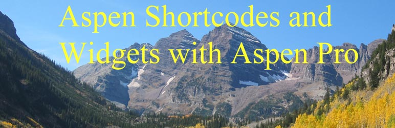 WordPress Aspen Shortcodes and Widgets Plugin Banner Image
