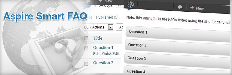 WordPress Aspire Smart FAQ plugin Plugin Banner Image