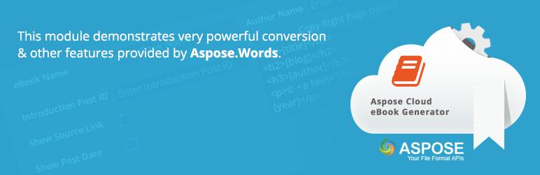 WordPress Aspose Cloud eBook Generator Plugin Banner Image