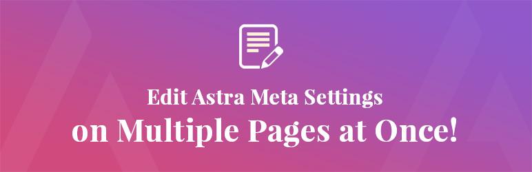 WordPress Astra Bulk Edit Plugin Banner Image