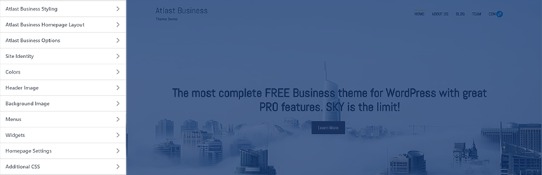 WordPress Atlast Business Theme Styling Customizer Plugin Banner Image