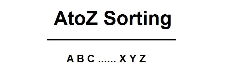 WordPress AtoZ Sorting Plugin Banner Image