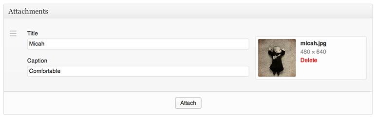 WordPress Attachments Plugin Banner Image