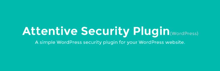 WordPress Attentive – security plugin Plugin Banner Image