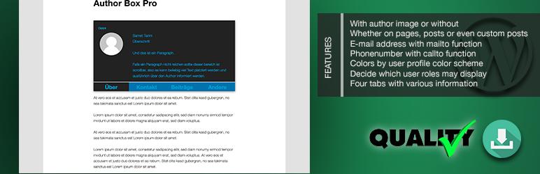 WordPress Melabu WP Author Box Pro Plugin Banner Image