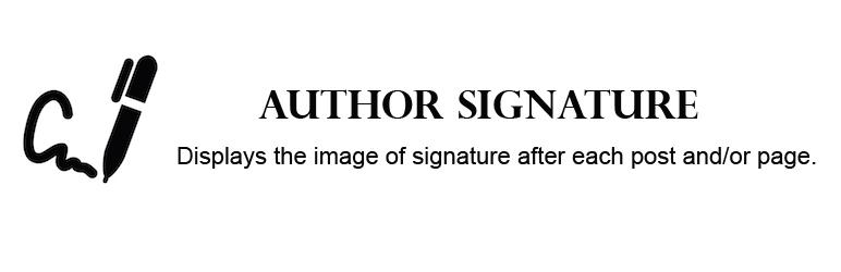 WordPress Author Signature Plugin Banner Image