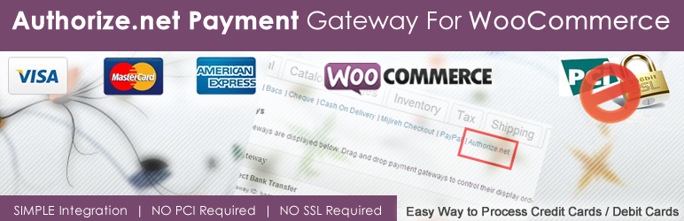 WordPress Authorize.net Payment Gateway For WooCommerce Plugin Banner Image