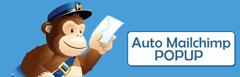 WordPress Auto Mailchimp Popup Plugin Banner Image