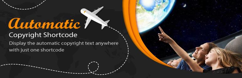 WordPress Automatic Copyrights Shortcode Plugin Banner Image