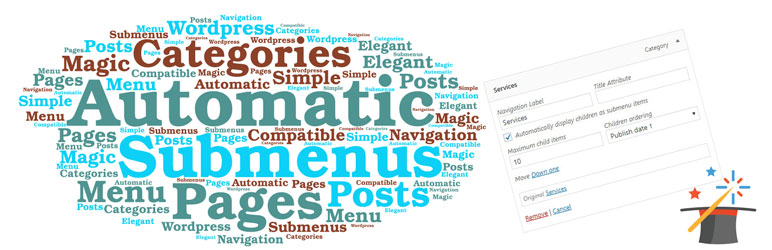 WordPress Automatic Submenu for Categories & Pages Plugin Banner Image