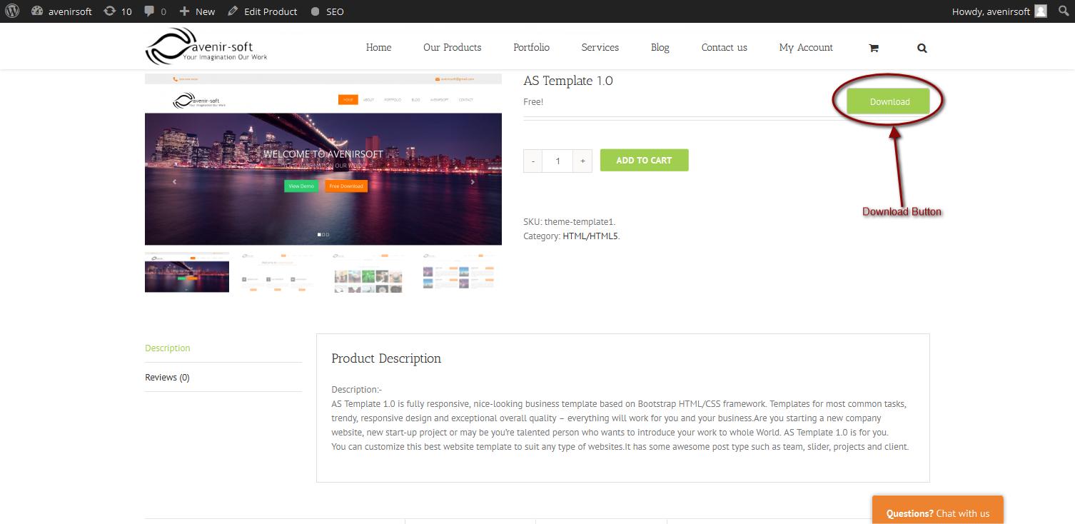WordPress Avenir-soft Direct Download Plugin Banner Image