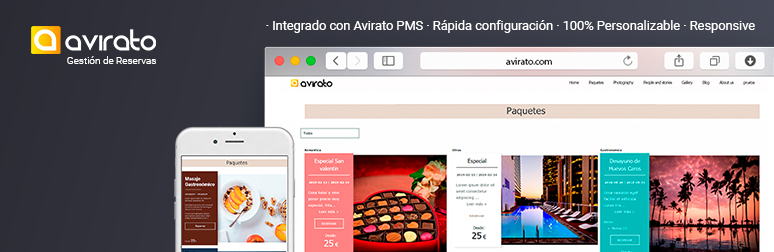 WordPress Avirato Hotels Promotional Packs Plugin Banner Image