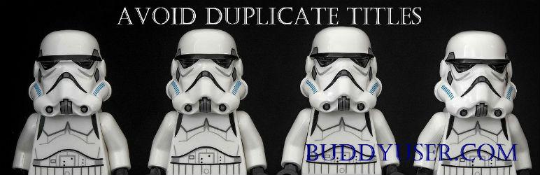 WordPress Avoid Duplicate Titles Plugin Banner Image